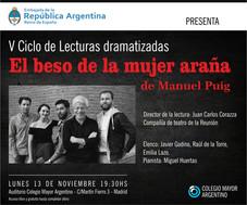 """La Embajada Argentina en España presenta: """"El Beso de la Mujer Araña"""""""
