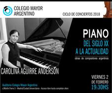 Ciclo de conciertos 2018/Carolina Aguirre Anderson Piano
