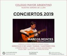 """Conciertos 2019 – Marcos Montes """"Un mundo guardado"""""""
