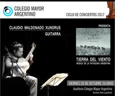 """""""Tierra del viento"""" Concierto del guitarrista argentino Claudio Maldonado Xunorus"""