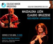Ciclo de conciertos 2017/18 – Magdalena León & Claudio Bruzzese