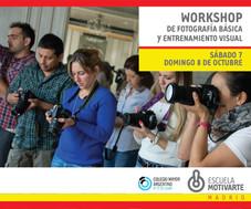 Workshop de fotografía básica y entrenamiento visual