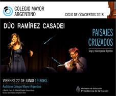 """Ciclo de conciertos 2017/18 - Dúo Ramírez Casadei """"Paisajes Cruzados"""""""