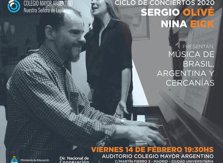 Conciertos 2020 –  Música de Brasil, Argentina y cercanías