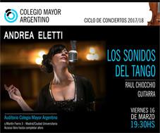 """Ciclo de conciertos 2018/Andrea Eletti """"Los sonidos del tango"""""""