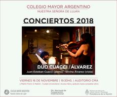 Conciertos 2018 – Dúo Silvina Álvarez y Juan Esteban Cuacci