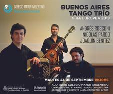 Ciclo de conciertos 2019 – Buenos Aires Tango trío