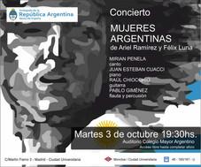 Obra musical - Mujeres Argentinas