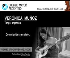 """Concierto: Verónica Muñoz """"Con mi guitarra en viaje"""""""