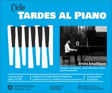 Ciclo: Tardes al Piano – Concierto: Bruno Amalfitano