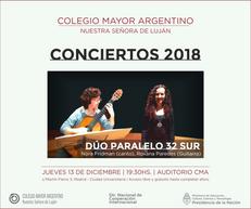 Conciertos 2018 – Dúo Paralelo 32 Sur