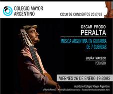 """Concierto """"Música argentina en guitarra de 7 cuerdas"""" Oscar Frodo Peralta"""