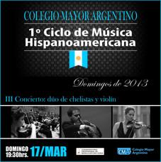 1º Ciclo de Música Hispanoamericana CMA