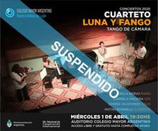 """Conciertos 2020 –  Cuarteto Luna y Fango """"Tango de cámara"""""""