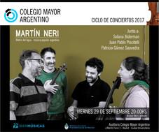 """Martín Neri - concierto: """"Matriz del Agua"""""""