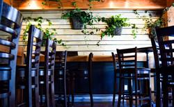 Mur de plantes et table