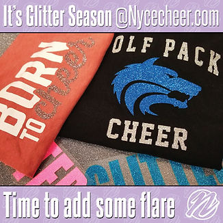 Custom Glitter Cheer Shirts