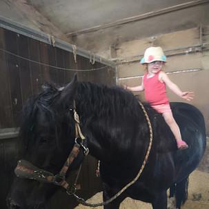 Aoife on Argy Pony
