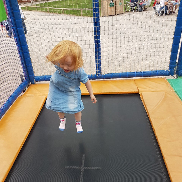 Aoife on the trampoline