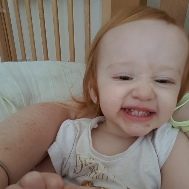 Aoife's cheeky grin!