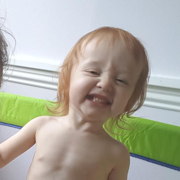 Aoife's famous cheeky grin
