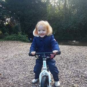 Aoife on her bike
