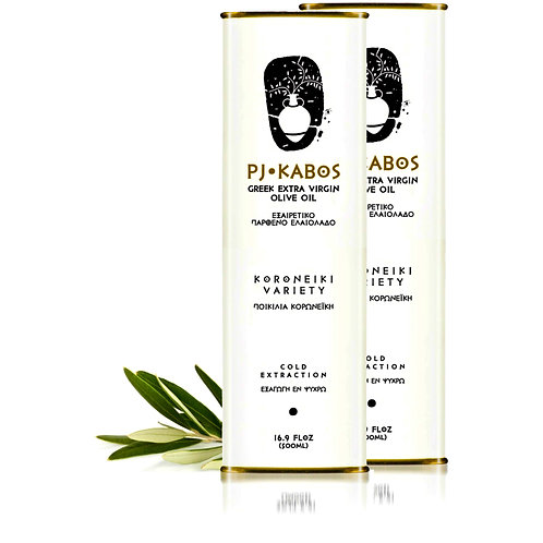 2x PJ KABOS Family Reserve 2019/20 Greek Extra Virgin Olive Oil, 16.9Floz