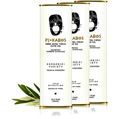 3x PJ KABOS Family Reserve 2019/20 Greek Extra Virgin Olive Oil, 16.9Floz