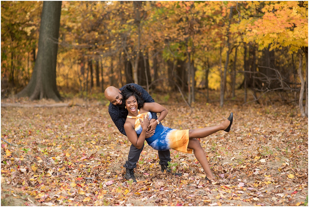 Cleveland Fall Engagement Session
