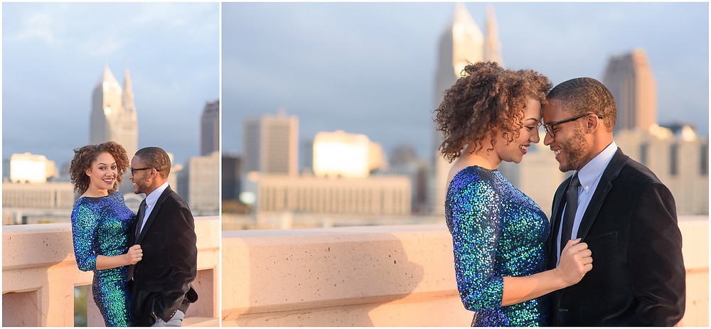 Cleveland Skyline Engagement