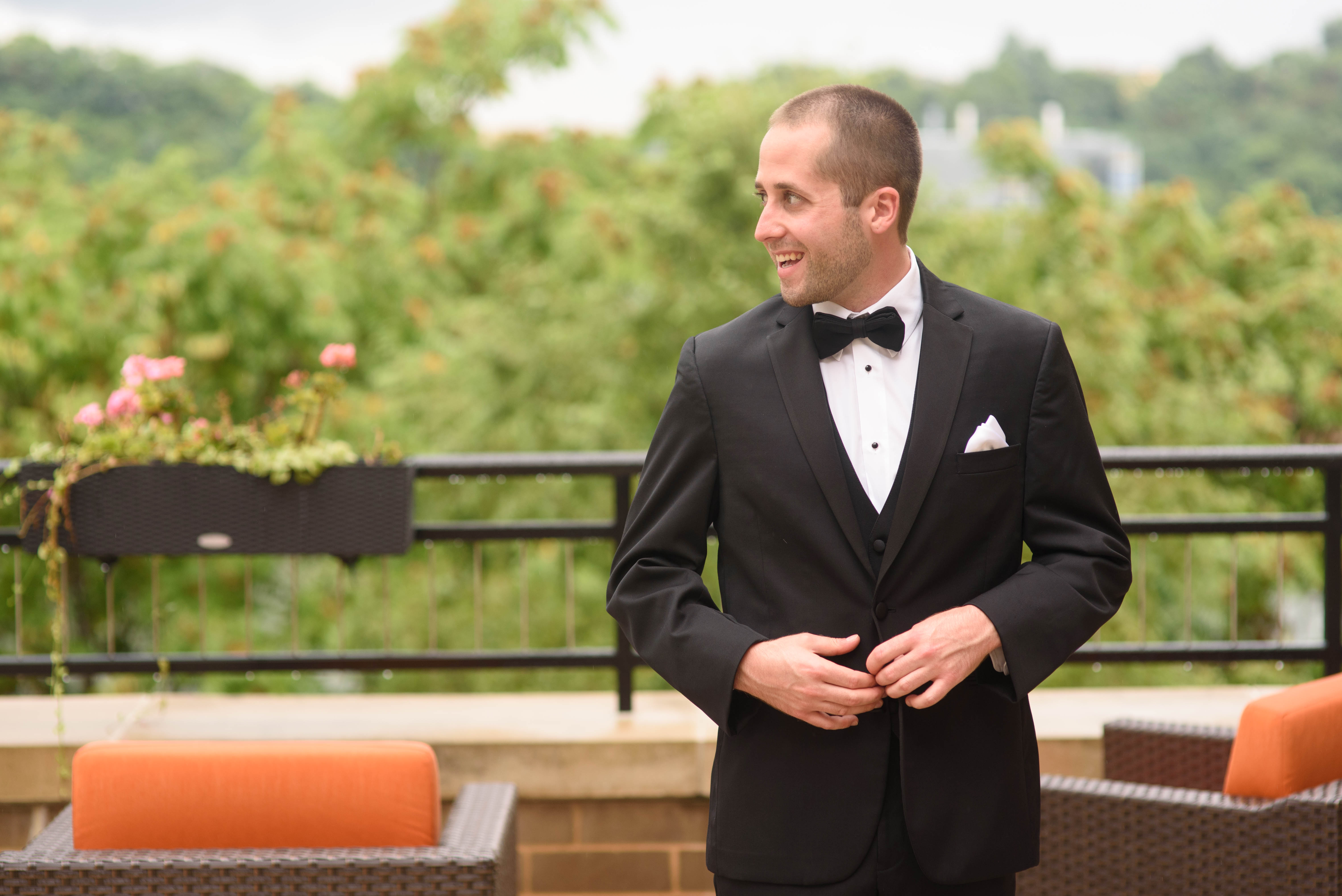 Pittsburgh wedding groom