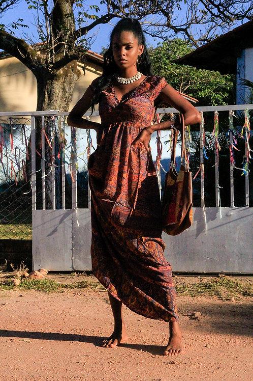 Vestido de Seda Longo
