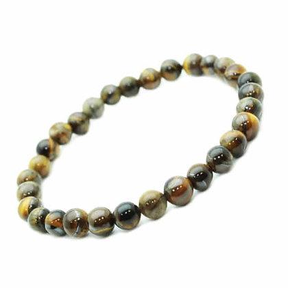Bracelet Oeil de Tigre - pierres fines 8mm