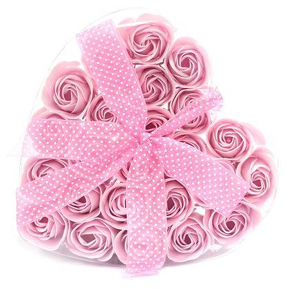 Boîte de 24 Roses De Bain - Rose