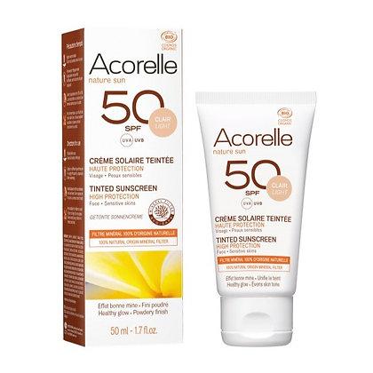 Crème Solaire Teintée teinte Claire SPF50 50ml - Acorelle