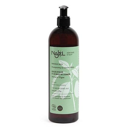 Shampooing 2 en 1 au Savon d'Alep Cheveux Secs 500ml Certifié Cosmos Organic