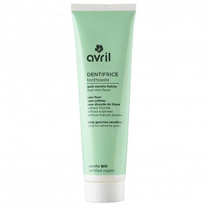 Dentifrice sans fluor 100 ml Certifié bio - Avril