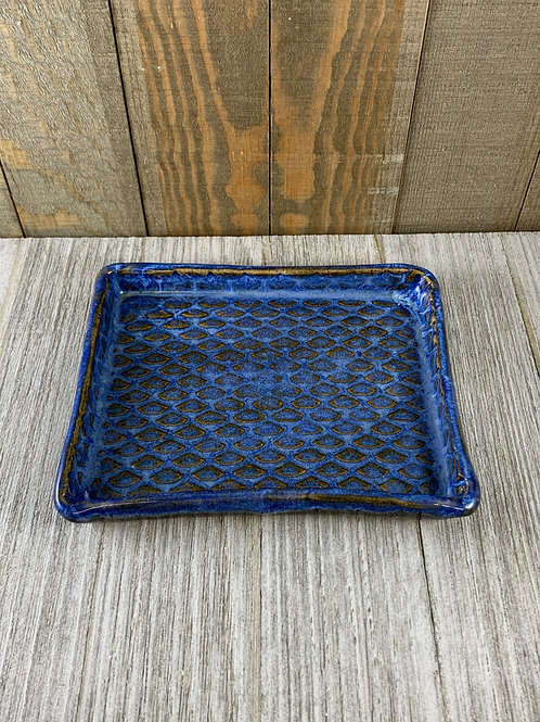 Handmade Soap Dish, Blue Tides Mermaid Scales