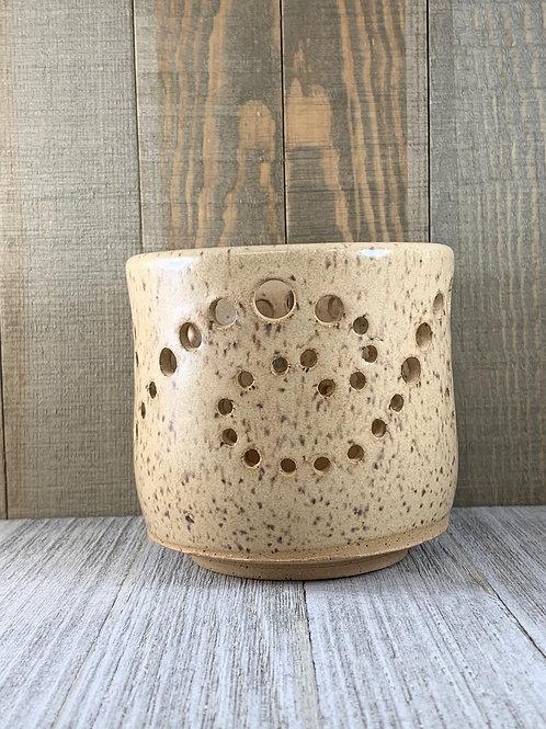 Candle Votive, Sand Glaze