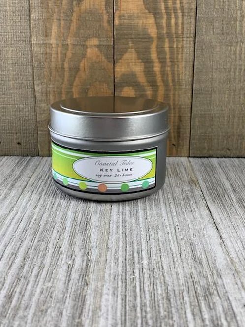Soy Candle in Tin Container -Key Lime