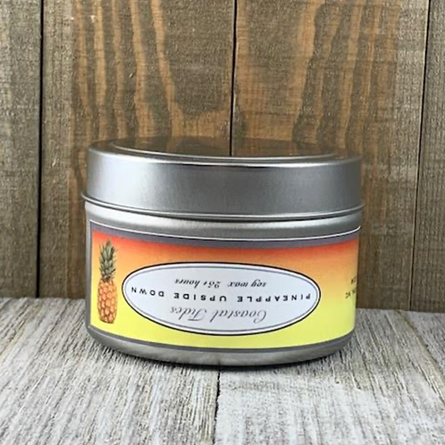 Pineapple Upside Down Tin Candle