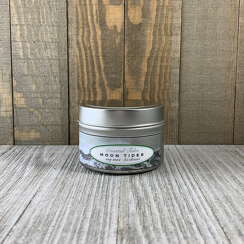Soy Candle in Tin Container -Moon Tides