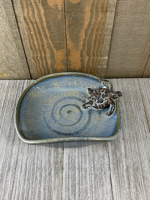 Handmade Soap Dish, Light Blue Sea Turtle
