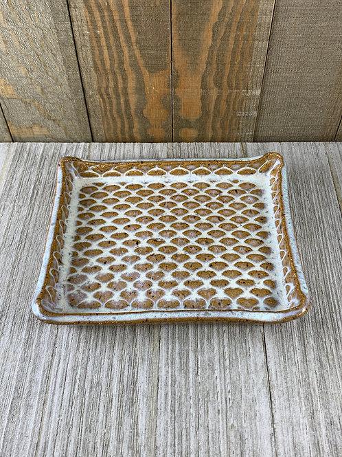 Handmade Soap Dish, White Sands Mermaid Scales