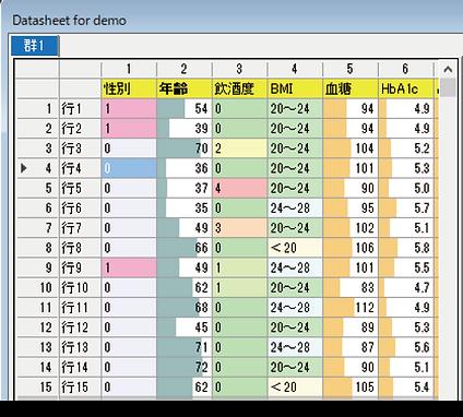 データシートの色分け表示 .png