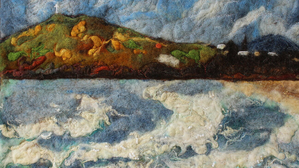 Bray Beach Landscape Original Print 12 x 8 Inch