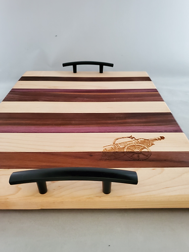 Wooden Charcuterie Board With Handles; Wood Cutting Board, Laser Engraved Wine B