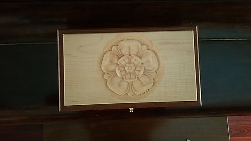 Wooden Jewelry Box with carving