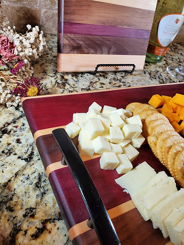 Wooden Charcuterie Board With Handles; Laser Engraved; Birthday&Holiday Gift.