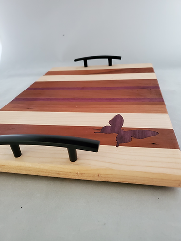 Wooden CharcuterieBoard With Handle; Wood Tray.